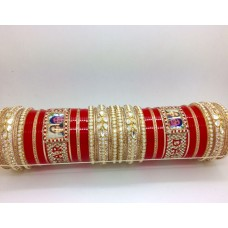Red-and-gold-chura-with-pearl