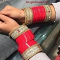 simple red designer shaadi chura