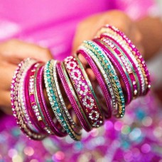 Perfect Pink Matching Bangle Set -5