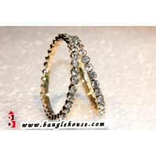Elegant Diamond Metal Bangles