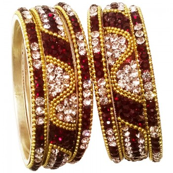 Elegant Brass Bangle Set 4