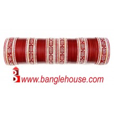 Amazing Punjabi Chura Red A2326