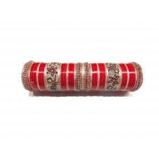 Designer Red Wedding Chura (ML-407)