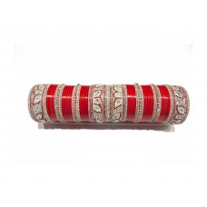 Exclusive Red Wedding Chura (ML-408)