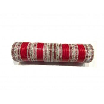 Red Bridal Chura - Rakhi