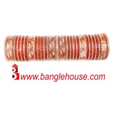 Stylish Wedding Chura with Stone Work 532