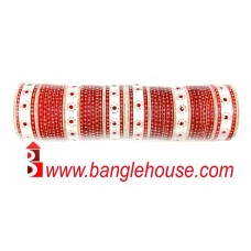 Red bridal bangles set 539