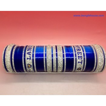 Blue Designer Chura with Name