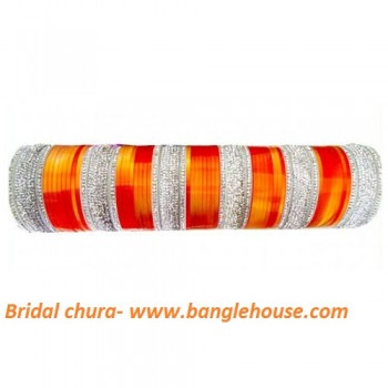 Designer Orange Bridal Chuda