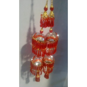 Pure Red Indian Kalire with Stone Work (D2 red kalira)