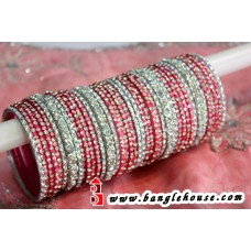 Pink & Green Matching Bangle Set -2