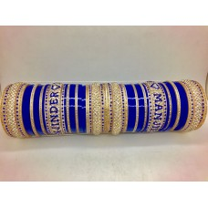 Blue and gold chuda with couple names