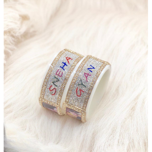 Personalised beautifully crafted bangle pair