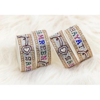 Multi colour personalised name bangles