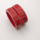 Complete red couple name bangles