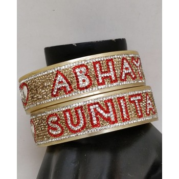 Personalised bangles with double line font