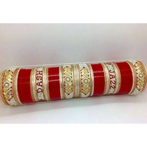 Latest wedding chura design with names