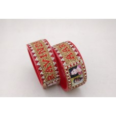 Couple picture bangles with beautiful border